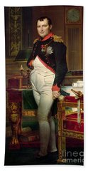 Napoleon Bonaparte In His Study At The Tuileries, 1812 Beach Towel