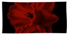 Narcissus Red Flower Square Beach Towel