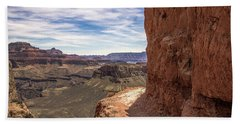 Narrow Trail On The South Kaibab Trail, Grand Canyon Beach Towel
