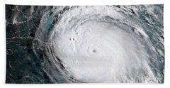 Nasa Hurricane Irma Satellite Image Beach Towel