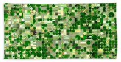 Nasa Image-finney County, Kansas-2 Beach Towel