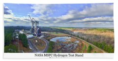 Beach Towel featuring the photograph Nasa Msfc Hydrogen Test Stand - Original by Norman Peay