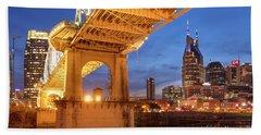 Beach Towel featuring the photograph Nashville Bridge IIi by Brian Jannsen