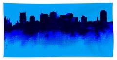 Nashville  Skyline Blue  Beach Towel