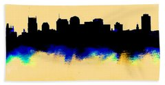 Nashville  Skyline  Beach Towel by Enki Art