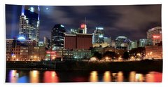 Nashville Skyline Beach Towel by Frozen in Time Fine Art Photography