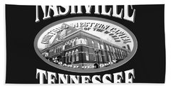 Nashville Tennessee Design Beach Towel