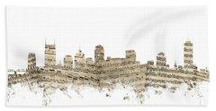 Nashville Tennessee Skyline Sheet Music Beach Sheet
