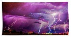 Nasty But Awesome Late Night Lightning 008 Beach Sheet