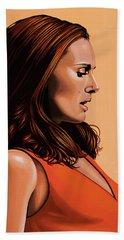 Natalie Portman 2 Beach Sheet by Paul Meijering