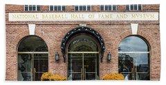 National Baseball Hall Of Fame Beach Towel