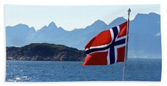 National Day Of Norway In May Beach Sheet