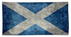 National Flag Of Scotland Vintage Version Beach Sheet