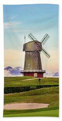 National Golf Links Of America Windmill Beach Towel