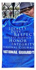 National Guard Shirt 21 Beach Sheet