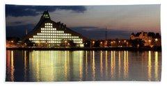 National Library Of Latvia Beach Towel