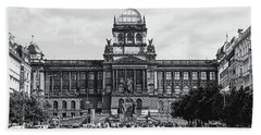 Beach Towel featuring the photograph National Museum At Wenceslas Square. Prague by Jenny Rainbow