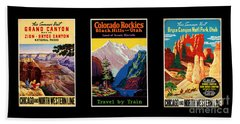 National Parks Posters Beach Towel