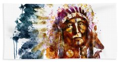 Native American Chief Beach Towel