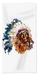 Native American Chief Beach Sheet