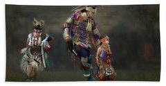 Native American Dancers Beach Sheet
