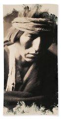 Native American Indian Portrait Profile Series - No 3 Beach Towel