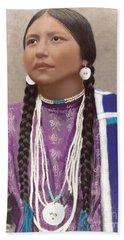 Native American Woman Beach Sheet