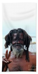 Beach Towel featuring the photograph Native Man by Gary Wonning