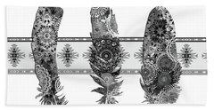 Native Mandala Feathers 5 Beach Sheet
