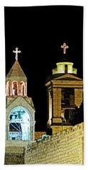 Nativity Church Lights Beach Towel