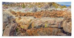Natural Bridge At Lava Beds Beach Towel
