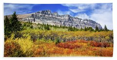 Natural Layers In Glacier National Park Beach Towel