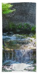 Beach Towel featuring the photograph Natural Spa Zone by Raphael Lopez