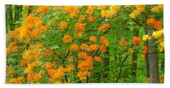 Natural Wild Azaleas  Beach Towel by Rand Herron