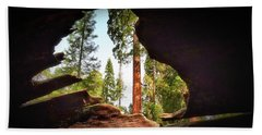 Beach Towel featuring the photograph Natural Window by Andrea Platt