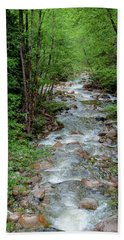 Naturally Pure Stream Backroad Discovery Beach Towel