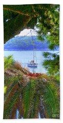 Nature Framed Boat Beach Towel