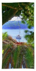 Nature Framed Boat Beach Towel