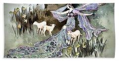 Beach Towel featuring the digital art Nature Goddess by Pennie McCracken