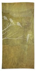 Nature Study In Gold  Beach Towel
