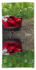 Nature Trash Vacuum Cleaner With Water Refections Beach Towel