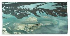 Natures Art On Barnegat Bay Beach Towel