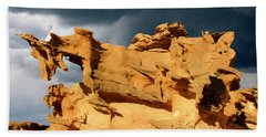 Beach Towel featuring the photograph Nature's Artistry Nevada 3 by Bob Christopher