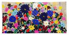 Natures Bouquet  Beach Sheet