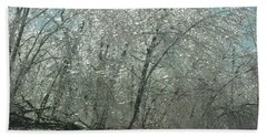 Beach Towel featuring the photograph Nature's Frosting by Ellen Levinson