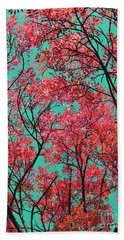 Natures Magic - Fire Red Beach Towel