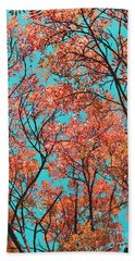 Beach Towel featuring the photograph Natures Magic - Orange by Rebecca Harman