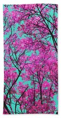 Natures Magic - Pink And Blue Beach Towel