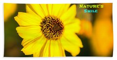 Nature's Smile  Beach Towel by Joseph S Giacalone