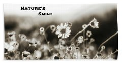 Nature's  Smile Monochrome Beach Towel